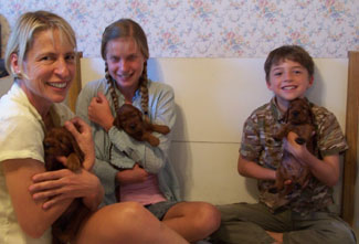 Weneta, Kasia and Stefan with pups